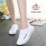 รองเท้าผ้าใบแฟชั่น แบบไร้เชือก สวยเรียบเก๋อินเทรนด์ วัสดุอย่างดี ผ้านิ่มกระชับเท้า ทรงสวยสไตล์แบรนด์ พื้นยางยืดหยุ่น ใส่สบาย ใส่เที่ยว ออกกำลังกาย แมทสวยเท่ห์ได้ทุกชุด (1803)