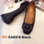 รองเท้าคัทชู ส้นเตี้ย แต่งอะไหล่ด้านหน้าสวยเก๋ ทรงหัวตัด หนังนิ่ม พื้นนิ่ม ใส่สบาย แมทสวยได้ทุกชุด (CA9319)