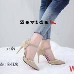 รองเท้าคัทชู รัดส้น ส้นสูง หนังสักหราดแต่งหมุดทองสวยหรู ทรงสวย ปราดเปรียวหนังนิ่ม ส้นสูงประมาณ 3.5 นิ้ว ใส่สบาย แมทสวยได้ทุกชุด (18-1328)