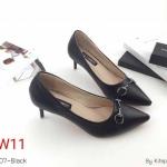 รองเท้าคัทชู ส้นเตี้ย แต่งอะไหล่ด้านหน้าสวยเรียบหรู ทรงสวย หนังนิ่ม ใส่สบาย ส้นสูงประมาณ 2.5 นิ้ว แมทสวยได้ทุกชุด (K9207)