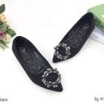 รองเท้าคัทชู ส้นแบน แต่งอะไหล่สวยหรู ทรงสวย หนังนิ่ม ใส่สบาย แมทสวยได้ทุกชุด (K5059)