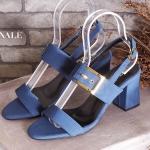 รองเท้าแฟชั่น ส้นสูง รัดส้น แบบสวม แต่งเข็มขัดสวยเก๋ สายรัดส้นประระดับได้ ส้นตัดสูงประมาณ 2.5 นิ้ว ใส่สบาย แมทสวยได้ทุกชุด