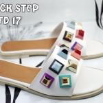 รองเท้าแตะแฟชั่น แต่งหมุดหลากสีสไตล์แบรนด์สวยเก๋ วัสดุอย่างดี ทรงสวย ใส่สบาย แมทสวยได้ทุกชุด (FD17)