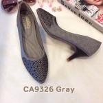 รองเท้าคัทชู ส้นเตี้ย แต่งคลิสตัลสวยหรู ทรงสวย ส้นสูงประมาณ 2.5 นิ้ว ใส่สบาย แมทสวยได้ทุกชุด (CA9326)