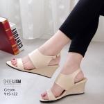 รองเท้าแฟชั่น ส้นเตารีด แบบสวม รัดส้น ดีไซน์รียบหรูคลาสสิค หนังนิ่ม ทรงสวย ใส่สบาย ส้นสูง 3 นิ้ว แมทสวยได้ทุกชุด (915-122)
