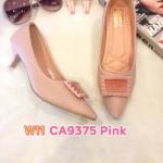 รองเท้าคัทชู ส้นเตี้ย แต่งอะไหล่สวยเก๋ หนังนิ่ม ทรงสวย ส้นสูงประมาณ 1.5 นิ้ว ใส่สบาย แมทสวยได้ทุกชุด (CA9375)