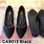 รองเท้าคัทชู ส้นแบน แต่งอะไหล่สวยเก๋ หนังนิ่ม พื้นนิ่ม ใส่สบาย แมทสวยได้ทุกชุด (CA9013)