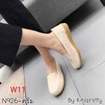 รองเท้าคัทชู ทรง loafer แต่งลายกุหลาบด้านข้างสวยเรียบเก๋ หนังนิ่ม พื้นนิ่ม พื้นยางนิ่มยืดหยุ่น ใส่สบาย แมทสวยได้ทุกชุด (N926)