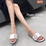 รองเท้าแตะแฟชั่น แบบสวม แต่งเพชรคลิสตัลสไตล์ roger vivier สวยหรู ใส่สบาย แมทสวยได้ทุกชุด (818-101)