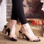 รองเท้าแฟชั่น ส้นสูง แบบสวม รัดส้น สไตล์เรียบเก๋ ทรงสวย หนังนิ่ม ส้นสูงประมาณ 3 นิ้ว ใส่สบาย แมทสวยได้ทุกชุด