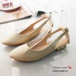 รองเท้าคัทชู ส้นเตี้ย ทรงสไตล์ ZARA น่ารักมาก วัสดุหนังนิ่มอย่างดี ดีเทลเกร๋แต่งโบว์ด้านหลัง ส้นแต่งเคลือบเงาด้านในนิ่ม ทรงสวย ใส่สบาย ใส่ง่าย น้ำหนักเบา แมทสวยได้ทุกชุด (600731)