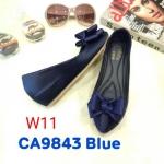 รองเท้าคัทชู ส้นเตารีด แต่งโบว์สวยหรูน่ารัก ทรงสวย หนังนิ่ม ส้นสูงประมาณ 2 นิ้ว ใส่สบาย แมทสวยได้ทุกชุด (CA9843)