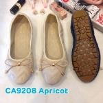 รองเท้าคัทชู ส้นแบน หนังนิ่มปักลายแต่งโบว์สวยน่ารัก ใส่สบาย แมทสวยได้ทุกชุด (CA9208)