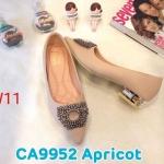 รองเท้าคัทชู ส้นเตี้ย แต่งอะไหล่เพชรสวยหรู ส้นเคลือบเงาสวยดูดี หนังนิ่ม ทรงสวย ใส่สบาย แมทสวยได้ทุกชุด (CA9552)