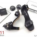 รองเท้าแฟชั่น แบบสวม รัดข้อ แต่งตุ้งติ้งเพชรสวยเรียบหรู ทรงสวย ส้นสูงประมาณ 3.5 นิ้ว ใส่สบาย แมทสวยได้ทุกชุด (K5911)