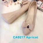 รองเท้าคัทชู ส้นเตารีด แต่งโบว์สวยเก๋ หนังนิ่ม ใส่สบาย ทรงสวย แมทสวยได้ทุกชุด (CA9217)