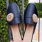 รองเท้าคัทชู เปิดส้น แต่งอะไหล่สวยหรู หนังนิ่ม พื้นนิ่ม งานสวย ใส่สบาย แมทสวยได้ทุกชุด
