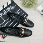 รองเท้าคัทชู ส้นแบน แต่งอะไหล่สวยเก๋ หนังนิ่ม ใส่สบาย ทรงสวย แมทสวยได้ทุกชุด (K5049)