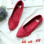 รองเท้าคัทชู ส้นแบน หนังสักหราด ทรงหัวแหลม สวยเรียบเก๋สไตล์ H&M ทรงสวย ใส่สบาย แมทสวยได้ทุกชุด