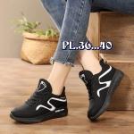 รองเท้าผ้าใบแฟชั่น แต่งลายสวยเท่ห์สไตล์ วัสดุอย่างดี ทรงสวย ใส่สบาย ใส่เที่ยว ออกกำลังกาย แมทสวยเท่ห์ได้ทุกชุด (F15)
