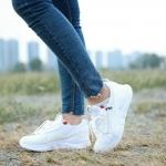 รองเท้าผ้าใบแฟชั่น แต่งลายสไตล์ FILA สวยเท่ห์ วัสดุผ้าระบายอากาศอย่างดีแต่งหนังสักหลาดด้านข้าง ส้นหนา 1.5 นิ้ว พื้นยางกันลื่น งานนุ่ม วัสดุอย่างดี ทรงสวย ใส่สบาย ใส่เที่ยว ออกกำลังกาย แมทสวยเท่ห์ได้ทุกชุด (1931)