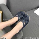 รองเท้าคัทชู ส้นแบน หนังสานด้านหน้าสวยเก๋ หนังนิ่ม พื้นยางอย่างดี พื้นข้างในก็นุ่มใส่สบายเท้า ทรงสวย ใส่สบาย แมทสวยได้ทุกชุด (N0159)