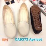 รองเท้าคัทชู ส้นแบน ทรงหัวมน แต่งลายที่ขอบสวยน่ารัก หนังนิ่ม ใส่สบาย แมทสวยได้ทุกชุด (CA9373)