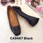รองเท้าคัทชู ส้นเตี้ย แต่งเข็มขัดสวยเก๋ หนังนิ่ม พื้นนิ่ม ส้นสูงประมาณ 1.5 นิ้ว ใส่สบาย แมทสวยได้ทุกชุด (CA9467)