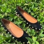 รองเท้าคัทชู ส้นแบน แต่งหมุดสวยเก๋ ทรงสวย ใส่สบาย แมทสวยได้ทุกชุด