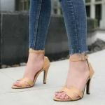 รองเท้าคัทชู ส้นสูง รัดข้อ หน้า H สไตล์แอร์เมสสวยเก๋ ทรงสวย หนังนิ่ม ส้นสูงประมาณ 4 นิ้ว ใส่สบาย แมทสวยได้ทุกชุด