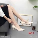 รองเท้าคัทชู ส้นเตี้ย สวยเรียบหรู ทรงสวย หนังนิ่ม ส้นสูงประมาณ 2.5 นิ้ว ใส่สบาย แมทสวยได้ทุกชุด (K9333)