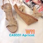 รองเท้าแฟชั่น ส้นเตารีด รัดส้น แบบสวม ส้นลายไม้สวยเก๋ ทรงสวย หนังนิ่ม ใส่สบาย แมทสวยได้ทุกชุด (CA9331)