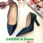 รองเท้าคัทชู ส้นสูง ทรงหัวแหลม เรียบหรู ส้นเหลี่ยมสวยเก๋ หนังนิ่ม ทรงสวย ส้นสูงประมาณ 3 นิ้ว ใส่สบาย แมทสวยได้ทุกชุด (CA9359-A)