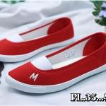 รองเท้าผ้าใบแฟชั่น ทรง slip on ทรงสวยน่ารักเรียบเก๋ วัสดุอย่างดี พื้นนิ่ม งานสวย ใส่สบาย แมทสวยได้ทุกชุด