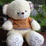 ตุ๊กตาหมีป๊อบปูล่าสีครีม 90 เซนติเมตร