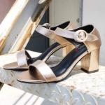 รองเท้าแฟชั่น ส้นสูง รัดส้น สวยเรียบเก๋มีสไตล์ ทรงสวย หนังนิ่ม ส้นสูงประมาณ 3 นิ้ว ใส่สบาย แมทสวยได้ทุกชุด