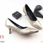 รองเท้าคัทชู ส้นเตี้ย ทรงหัวแหลม แต่งอะไหล่ทองด้านหน้าเรียบหรู ทรงสวย หนังนิ่ม ส้นสูงประมาณ 2 นิ้ว ใส่สบาย แมทสวยได้ทุกชุด (K9187)