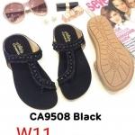 รองเท้าแตะแฟชั่น แบบสวมนิ้วโป้ง แต่งอะไหล่สวยเก๋ หนังนิ่ม พื้นนิ่ม ใส่สบาย แมทสวยได้ทุกชุด (CA9508)