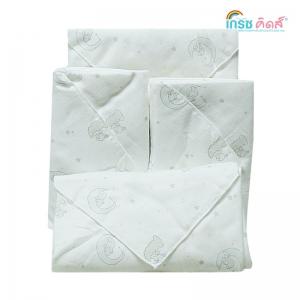 เกรซคิดส์ผ้าอ้อมเยื่อไผ่เนื้อนิ่ม พิมพ์ลาย ขนาด30x30นิ้ว ยกลัง(6 แพ็ค)