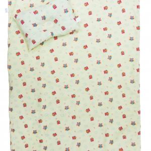 เกรซคิดส์ผ้าห่มเด็กขนาด 30x40 นิ้ว+หมอนหนุน ลายนกฮูก (เหลือง)