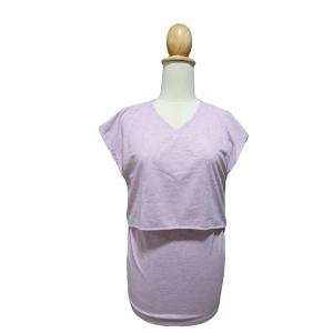 เกรซคิดส์เสื้อให้นมคอวี เปิดด้านหน้า สีชมพูอ่อน ยกลัง(4 ชิ้น)