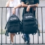 กระเป๋าเป้สะพายหลังสารพัดประโยชน์ สวย ทน เท่ห์ คุณภาพชั้นนำเป็นที่ยอมรับระดับสากล new waterproof skateboard pack high-quality motorcycle nylon cloth casual fashion big backpack in Europe and America thumbnail 3
