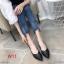 รองเท้าคัทชู ส้นเตี้ย ทรงหัวแหลมแต่งอะไหล่เรียบหรู ส้นเหลียมสวยเก๋ ทรงสวย หนังนิ่ม ใส่สบาย แมทสวยได้ทุกชุด (K9353) thumbnail 1