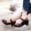 รองเท้าคัทชู ส้นเตี้ย แต่งดอกไม้และตะเข็บรอบสวยคลาสสิค หนังแกะงานหนังแท้ บ่งบอกถึงความหรูหรา นิ่มใส่สบาย งานคุณภาพนำเข้า เก็บรายละเอียดเป็ะมาก สไตล์เพื่อสุขภาพ สูง 2.5 นิ้ว แมทสวยได้ทุกชุด (9212-82) thumbnail 1