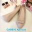 รองเท้าคัทชู ส้นเตารีด แต่งโบว์สวยน่ารัก หนังนิ่ม ทรงสวย ใส่สบาย ส้นสูงประมาณ 2 นิ้ว แมทสวยได้ทุกชุด (CA8610) thumbnail 1