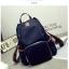 Back pack(กระเป๋าเป้ แฟชั่น สะพายหลัง) BA085 สีน้ำเงิน พร้อมส่ง thumbnail 23
