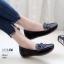 รองเท้าคัทชู ทรง loafer ส้นเตารีด แต่งโบว์สวยน่ารัก หนังนิ่ม พื้นนิ่ม งานสวย ใส่สบาย ส้นสูง 2 นิ้ว แมทสวยได้ทุกชุด (A04) thumbnail 2