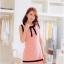 [พรีออเดอร์] ชุดเดรสชีฟองผู้หญิงแฟชั่นเกาหลีใหม่ คอกลม แขนกุด แบบเก๋ เท่ห์ - [Preorder] New Korean Fashion Slim Chiffon Round Neck Long-sleeved Dress thumbnail 1