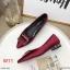 รองเท้าคัทชู ส้นเตี้ย แต่งอะไหล่สวยหรู ทรงสวย หนังนิ่ม ส้นเคลือบเงาสวยเก๋ สูงประมาณ 1 น้ิ้ว ใส่สบาย แมทสวยได้ทุกชุด (K9339) thumbnail 2