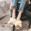 รองเท้าแตะแฟชั่น แบบสวม แต่งขนเฟอร์ฟูนิ่มสวยเก๋น่ารัก งานสวย ใส่สบาย แมทสวยได้ทุกชุด (18805) thumbnail 1